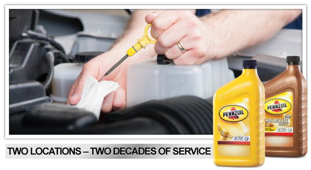 TWO LOCATIONS – TWO DECADES OF SERVICE | Oil change, motor oil