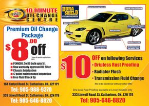 Pennzoil 10 Minute Oil Change coupon